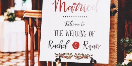 Ryan-and-Rachel-Welcome-Sign